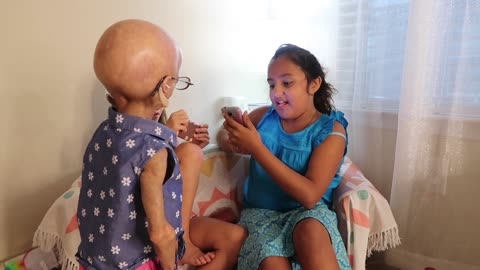 Adalia Rose Presents Humorous Birthday Skit