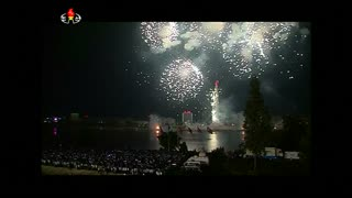 Fireworks light up Pyongyang to celebrate Liberation Day