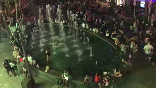 Drunk Girl Jumps In Fountain Guy Joins Her Gets Busted  - Video