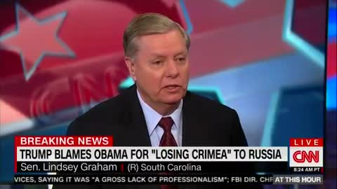 """Lindsey Graham live on CNN: """"If you don't like me working with Trump, I don't give a shit"""""""