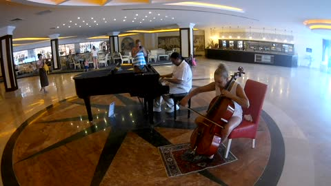 live music in the hotel of Turkey - amazing