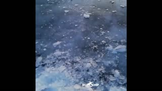 Bungling Drunk Russian Trapped Under Ice In Shock Video