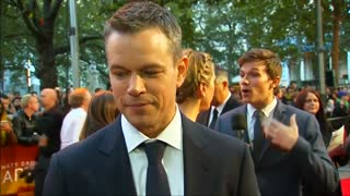 'The Martian' premiere lands in London - Video