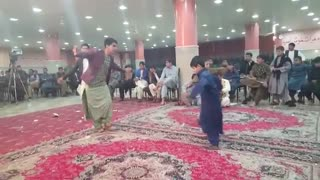 cute pathan childrens Dancing on a Marriage party