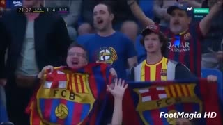 Las Palmas 1 : 4 FC Barcelona - All goals - Video