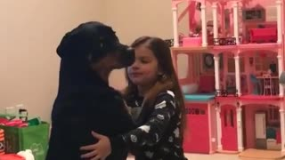 A Girl And Her Dog Play-Pretend They Are Ballroom Dancing - Video