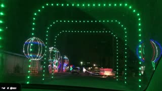 Driving through the Christmas Lights