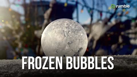 Compilation Captures The Formation Of Frozen Wintry Bubbles