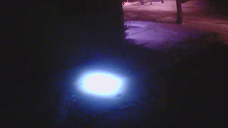 Unknown BRIGHT Light Caught on Security Cam