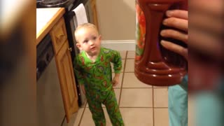 Little Boy Has Hilarious Reaction To V8 - Video