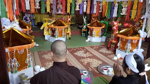 Buddhist ceremony in the North of Vietnam
