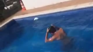 Bellyflop off a foldable chair - Video