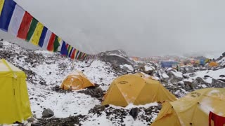 Hit by Avalanche in Everest Basecamp 25.04.2015 - Video