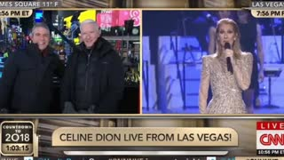 Canadian Celine Dion Takes Cheap Swipe at Trump on New Year's Eve - Video