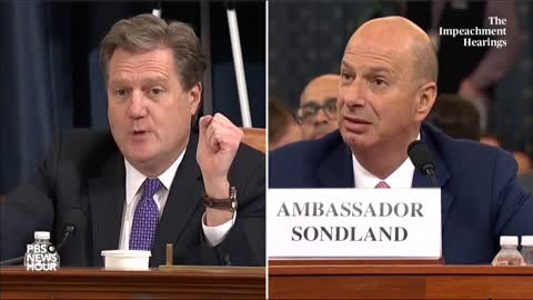 """Sondland: """"No One On This Planet"""" Told Him Aid Was Tied To Investigations"""