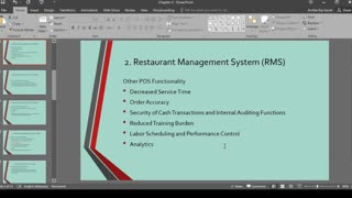 Chapter 4 - Information Systems for food