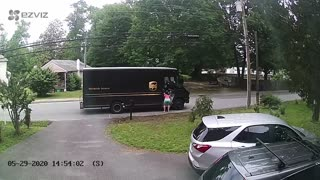 Dog Wants to Go for a Drive in UPS Van