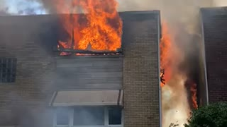 4 building on fire