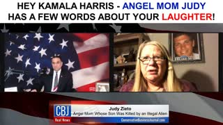Angel Mom Judy has a Few Words for Kamala Harris