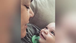 Baby Expresses Pure Joy When Mom Sings To Her