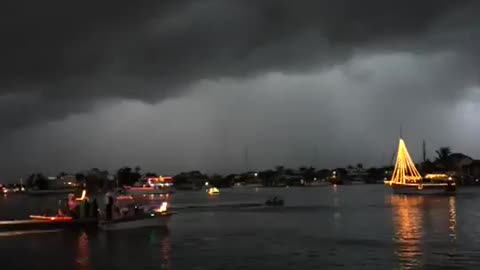 Woman on boat hit by lightning!
