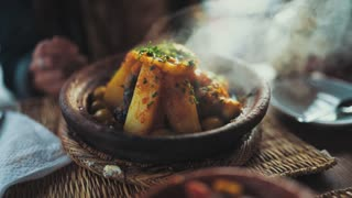 homemade tagin with vegetables
