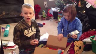 Christmas puppy surprise - Video