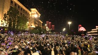 Thousands Celebrate New Year's Eve in Wuhan, China