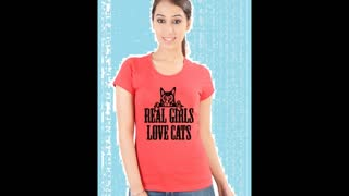 Womens Red Colour Printed T Shirts - Video