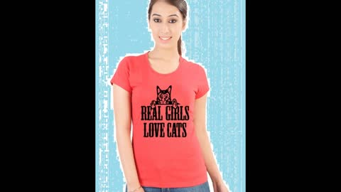 Womens Red Colour Printed T Shirts