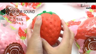 SQUISHY TOY CUTE STRAWBERRY SLOW RISING PHONE - Video