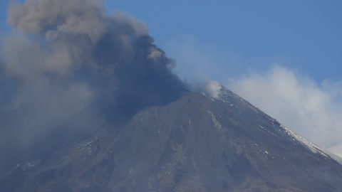 Volcanic activity of Mt. Etna spews ash over surrounding villages