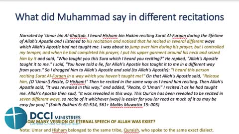 How Muhammad gives birth to lots of different Qurans