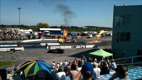 Canadian Nitro Nationals Jet Truck 191 mph