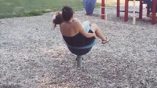 Collab copyright protection - mom daughter falls off blue tube - Video