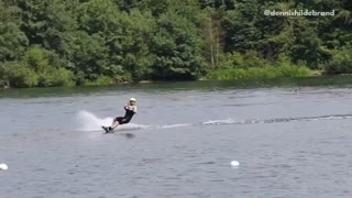 Collab copyright protection - wakeboarding 360 attempt fail  - Video