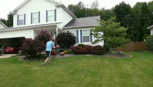 Unbelievable football trick shot over a house! - Video