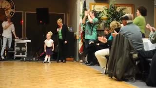 What a McCutie: Tiny 4-year-old Irish dancer gets standing ovation