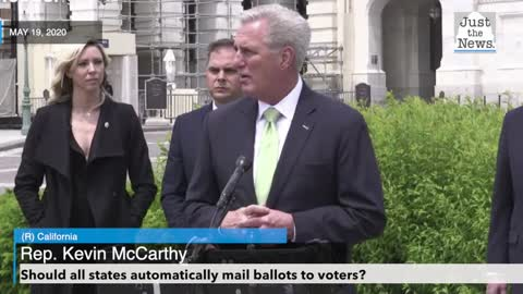 McCarthy opposes federal mandate requiring states to mail ballots to all voters