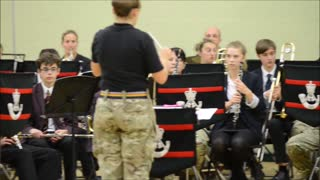 Band of Rifles performs at school - Video