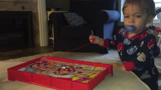 Little boy plays Operation and gets confused by the buzz - Video