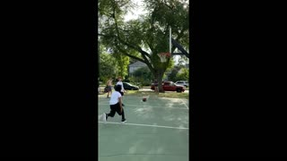Playing Basketball with Friend Who Has Really Big Feet