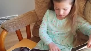 Girl can't contain tears upon hearing baby sister news - Video