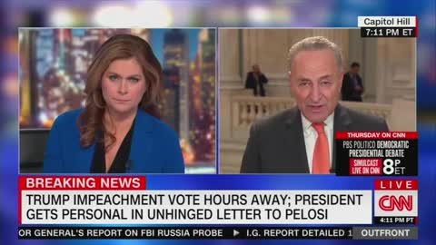 While Dems Were Voting To Impeach, Schumer Told CNN He Needed More Facts