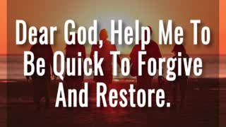Forgive And Restore - Video