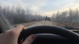 Playing chicken with a tank in Russia!