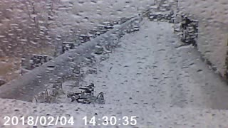 Initial Moments of Pile-Up near Conway - Video