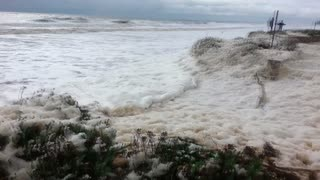 Sea Foam Snow Storm in Australia - Video