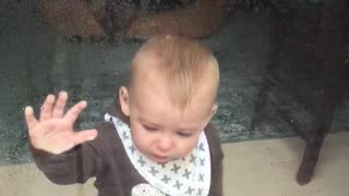 Baby gets power washed!  - Video
