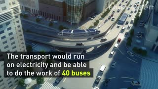 This new bus drives right over traffic jams - Video